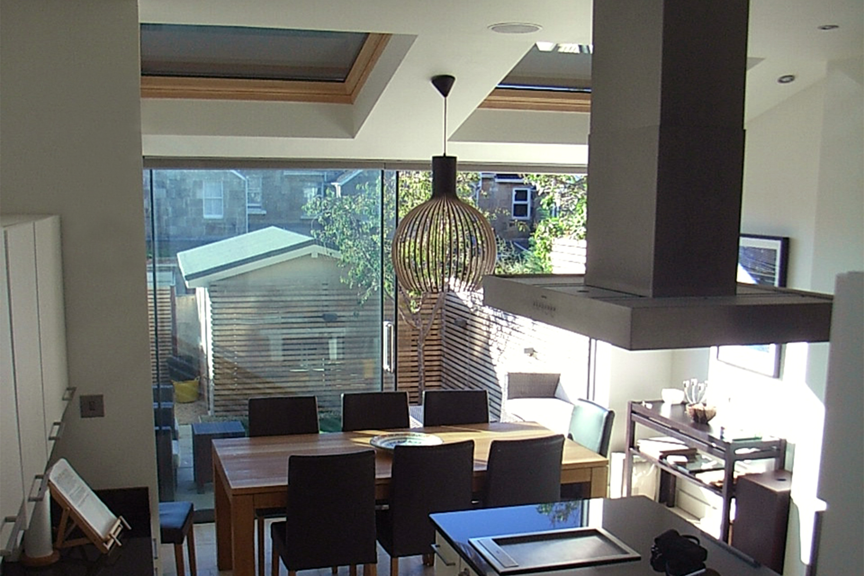 open ceiling ideas - Kitchen extension into garden of terraced house in Bath